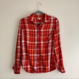 Lucky Brand • Long Sleeve Button Up Flannel Shirt